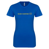 Next Level Ladies SoftStyle Junior Fitted Royal Tee-Maine Maritime w/ Anchor
