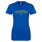 Next Level Ladies SoftStyle Junior Fitted Royal Tee-Golf