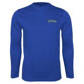Syntrel Performance Royal Longsleeve Shirt-Mariners Script