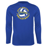 Syntrel Performance Royal Longsleeve Shirt-Volleyball Design
