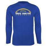 Syntrel Performance Royal Longsleeve Shirt-Arched Football Design