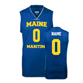 Replica Royal Adult Basketball Jersey-Personalized