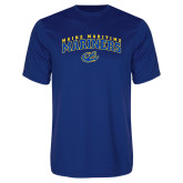 Performance Royal Tee-Arched Maine Maritime Mariners w/ Anchor