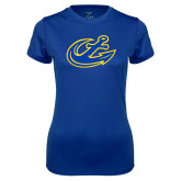 Ladies Syntrel Performance Royal Tee-Anchor