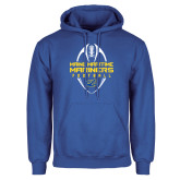 Royal Fleece Hoodie-Tall Football Design