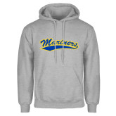 Grey Fleece Hoodie-Mariners Script