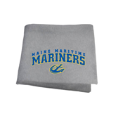 Grey Sweatshirt Blanket-Arched Maine Maritime Mariners w/ Anchor