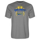 Performance Grey Concrete Tee-Basketball in Ball