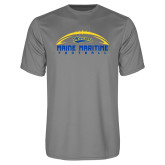 Performance Grey Concrete Tee-Arched Football Design