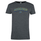 Ladies Dark Heather T Shirt-Football