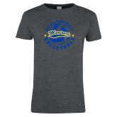 Ladies Dark Heather T Shirt-Volleyball Design