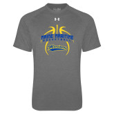 Under Armour Carbon Heather Tech Tee-Basketball in Ball