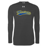 Under Armour Carbon Heather Long Sleeve Tech Tee-Mariners Script