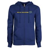 ENZA Ladies Royal Fleece Full Zip Hoodie-Maine Maritime w/ Anchor