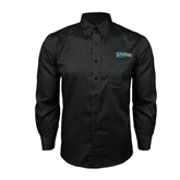 Red House Black Long Sleeve Shirt-Mariners Script