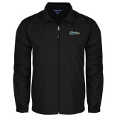Full Zip Black Wind Jacket-Mariners Script