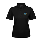 Ladies Black Dry Mesh Polo-Anchor
