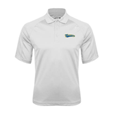 White Textured Saddle Shoulder Polo-Mariners Script
