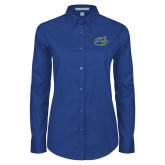 Ladies Royal Twill Button Down Long Sleeve-Anchor