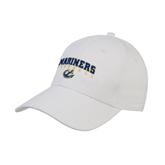 White Heavyweight Twill Pro Style Hat-Football
