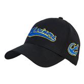 Black Heavyweight Twill Pro Style Hat-Mariners Script