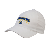 White OttoFlex Unstructured Low Profile Hat-Football