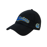 Black Twill Unstructured Low Profile Hat-Mariners Script