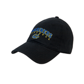 Black Twill Unstructured Low Profile Hat-Football