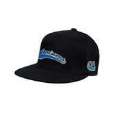 Black OttoFlex Flat Bill Pro Style Hat-Mariners Script