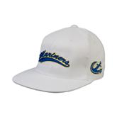 White OttoFlex Flat Bill Pro Style Hat-Mariners Script