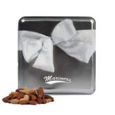 Deluxe Nut Medley Silver Medium Tin-Mariners Script Engraved