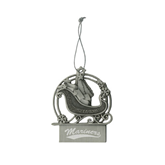 Pewter Sleigh Ornament-Mariners Script Engraved