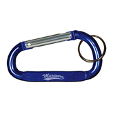 Blue Carabiner with Split Ring-Mariners Script Engraved