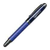 Carbon Fiber Blue Rollerball Pen-Mariners Script Engraved