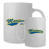 Full Color White Mug 15oz-Mariners Script
