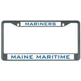 Metal License Plate Frame in Black-Maine Maritime