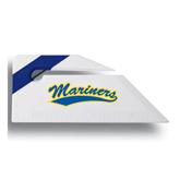 Angled Blue Stripe Letter Opener-Mariners Script