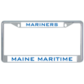 Metal License Plate Frame in Chrome-Maine Maritime