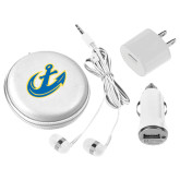 3 in 1 White Audio Travel Kit-Anchor