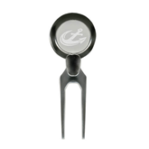 Silver Divot Tool/Ball Marker-Anchor Engraved