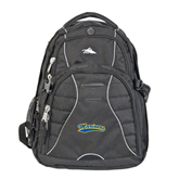 High Sierra Swerve Black Compu Backpack-Mariners Script