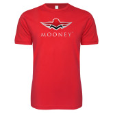 Next Level SoftStyle Red T Shirt-Primary Mark
