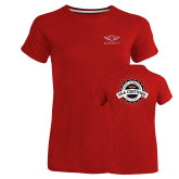 Ladies Russell Red Essential T Shirt-Primary Mark