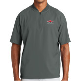 New Era Charcoal Cage Short Sleeve 1/4 Zip-Primary Mark