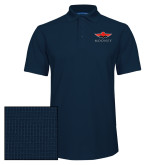 Navy Dry Zone Grid Polo-Solid Color Mark