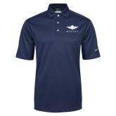 Nike Golf Tech Dri Fit Navy Polo-Solid Color Mark