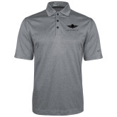 Nike Golf Dri Fit Charcoal Heather Polo-Solid Color Mark