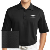 Nike Sphere Dry Black Diamond Polo-Solid Color Mark