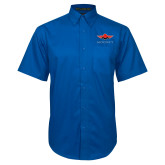 Royal Twill Button Down Short Sleeve-Solid Color Mark