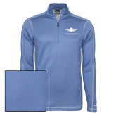 Nike Sphere Dry 1/4 Zip Light Blue Pullover-Solid Color Mark